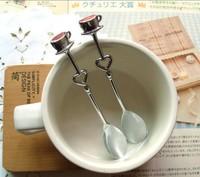 Heart Shaped Love coffee tea measuring Spoon Wedding lover Favors gift stainless steel dinner