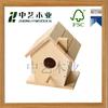 new design DIY mini wooden bird house toy