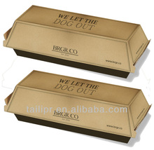 Wholesale cardboard Hot dog packing box / food packing box / *FB20131028-4