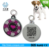 Silicone qr code pet tags for dog Protect with Epoxy