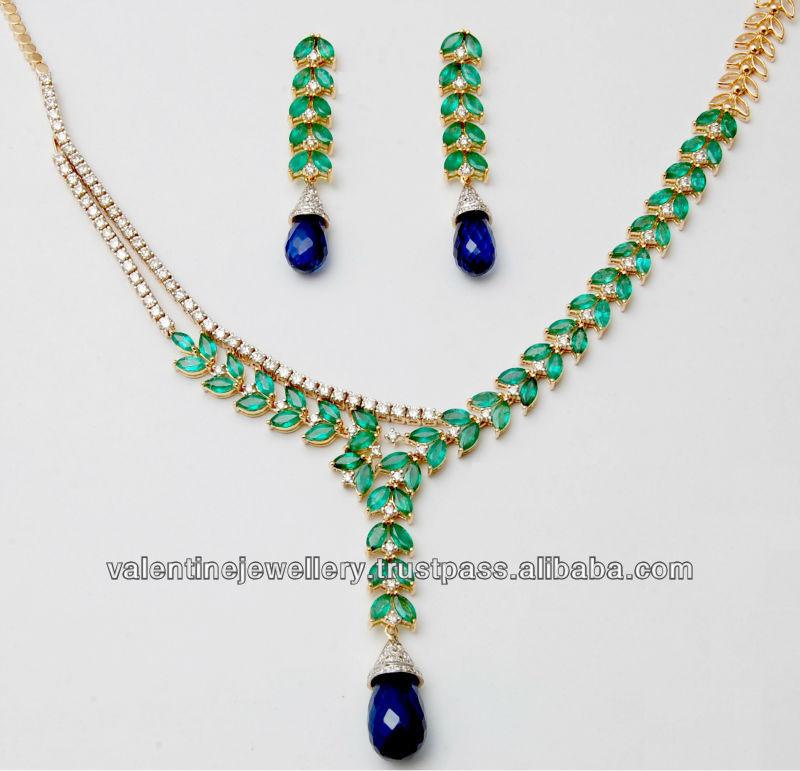 Indian gold drop earrings