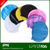 custom design adults silicone swim caps,printed 7 colors logo swim cap