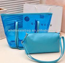 Wholesale PVC Clear Transparent Shoulder Handbag Hand Tote Bag Handbags Baby Bag in Bag