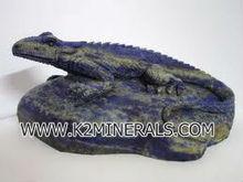 """3.3"""" Natural Lapis Lazuli Crystal Carving Art lizard"""