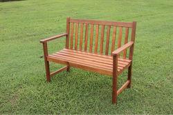 Garden wooden bench