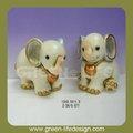 éléphants. maisondécor décoration d'éléphant en céramique