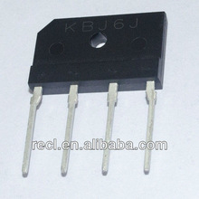 6A 100-1000V KBJ series glass passivated bridge rectifier,brake rectifier
