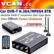 Car mobile DVB-T TV receiver tuner diversity dual antenna MPEG4