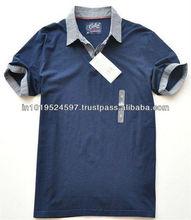 100% Organic Cotton Men's Long sleeve Polo T-shirt