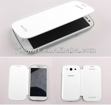 Cell Phone Flip PU Leather Case Battery Back Cover for Samsung Galaxy S 3 III S3 i9300