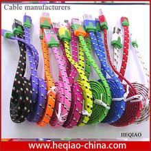 Super Transmission 1 Meter Nylon Housing V8 micro usb data charger cable