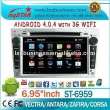EKK yıldızı multimedya android4.04 araba dvd oynatıcı opel vectra/Antara/zafira/corsa gps navigasyon