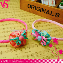 Cute Red Spot Petal Flower Textured Ribbon Butterfly Tie Strong Delicate Hair Band