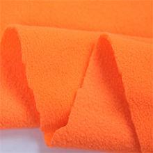 100d rainbow color polyester anti pill fleece fabric