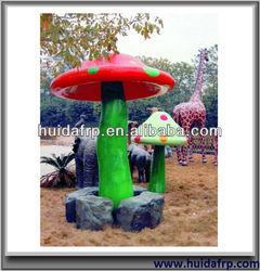 Ourdoor Landscaping Fiberglass Garden Decoration -- Mushroom