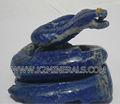 Naturales lapis lazuli de la serpiente talla / animal de la piedra preciosa tallas