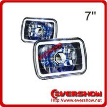 "7"" rectangular car Fog light with ring"