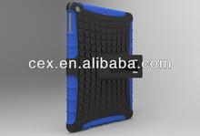 For Apple iPad 5 iPad Air High Quality Dual Hybrid Armor Soft Silicone and Hard Plastic Kickstand Case