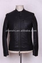 2014Fashion Slim PU Leather Jacket Coat