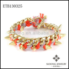 Friendship Summer Warm Bracelet Duel Tone With Spikes Bracelet in Record Spin Towards Your Edgy Bling Wholesale Spike Bracelet