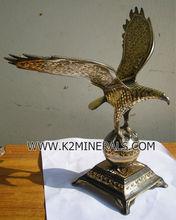 Nice Eagle animal antique brass sculpture cooper handicraft artwork gift decoration collection souvenir