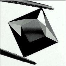 BLACK PRINCESS SHAPED BLACK LOOSE NATURAL DIAMOND 5.0 CT