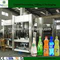 De alimentos- grado sus304/carbonatadas automático de agua suave/bebida de llenado/línea de embotellado/planta/sistema/de alta eficiencia