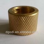 brass knurled threaded reducing insert
