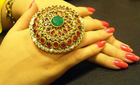 asian style kundan goldplating rings