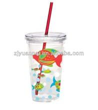 Promotional Double Wall Bulk Thermo Plastic Coffee Mug Cups