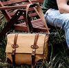 Top quality leather and canvas messenger bag for men wholesale