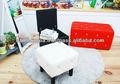 スツールチェアqubic/クッション/座ってクッション/革張りの椅子