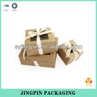 2014 customized import kraft paper gift set box