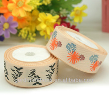 Halloween Puff Printed Grosgrain ribbon