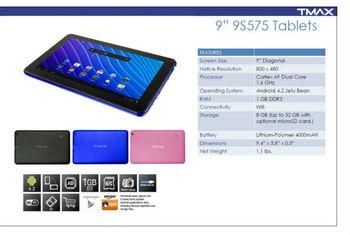 "Tmax tablet 9"" 9S575"