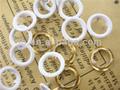 Venda quente atacado 2013 novo design de moda metal pérola qualidade tampa anel pino botão snap para o vestuário/saco plástico/sapatos