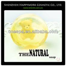 Promotional romantic fragrance transparent bath soap