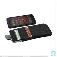 simple style pu for iphone 5 leather case P-IPH5CASE115