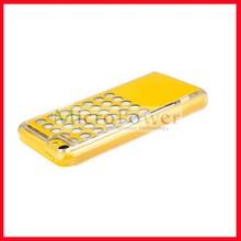 Fashion calling sense color change flash light hard skin LED case for iphone 5s/5c