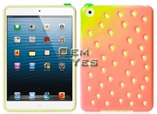 Hot-seling Cute Strawberry Silicone Case Cover for iPad Mini
