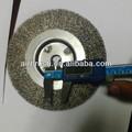"""6"""" circular de acero inoxidable cepillo de alambre con 16mm de agujero del árbol"""