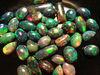 Black Ethiopian opal treated lot calibrated play of color , gemstones, cabochon semi precious stones, beads