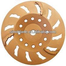 250mm Gold 3 Segment SOFT BOND Diamond wheel
