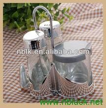 Best Seller Glass Cruet Set with Stand