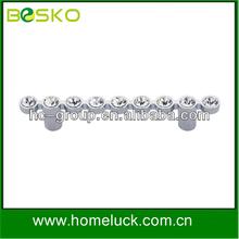 Crystalline design pull canbinet handle popular in hardware industry