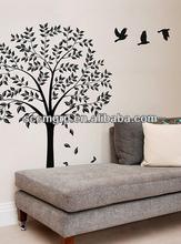 Reposition Wall Art Sticker, DIY Carving Black Vinyl Wall Decor sticker