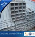 tianjin produzione di ferro zincato piazza tubo di acciaio specifica
