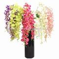 hermosa shengjie flores artificiales y florero de cristal