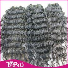 100% natural unprocess brazilian grey hairpieces wholesale price