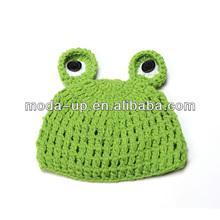 Crochet frog hat baby hat